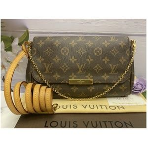Louis Vuitton Favorite MM Monogram Clutch (FL1134)